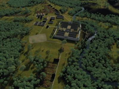A Roman Fort was typically rectangular in shape. Often the were located by the junction of two rivers and settlements grew up beside them.